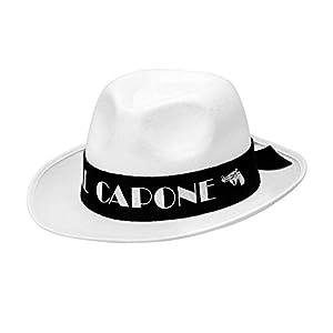 WIDMANN 01885 Al Capone Sombrero de Fieltro Unisex - Adulto, Blanco, Talla Única