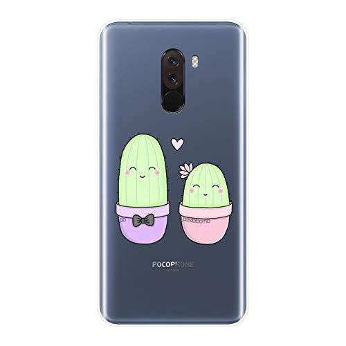 LJPHBB Funda Trasera para Xiaomi Redmi S2 6A 5 Plus 4A Cactus Funda De Silicona Suave para Teléfono para Pocophone F1 XiaomiNote 4 4X 5 5A 6 Pro Prime,No.1