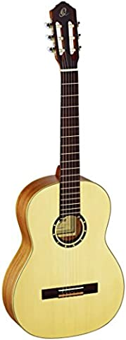 Ortega Guitars R133 Family Series Pro Nylon 6-String Guitar with Solid Spruce Top, Mahogany Body, Gloss
