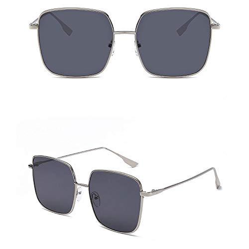 Wangwen Sonnenbrille, Getönte Sonne: Männer/Frauen Verwenden UV-400 100% Schutz Over-The-Counter, Blendschutz, High Definition (Color : Silver Frame Gray Piece)