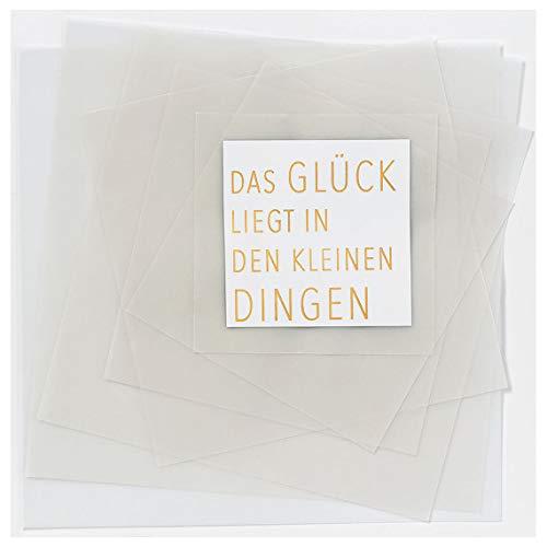 """Transparente Poesiekarte\""""Das Glück liegt\"""""""