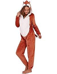 Loungeable Boutique Damen Fleece NEUHEIT Tier Einteiler