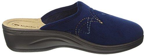 INBLU Ly000037, Pantofole Aperte sulla Caviglia Donna Blu