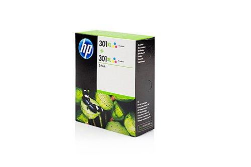 Original Tinte passend für HP OfficeJet 4630 Series HP 301XL D8J46AE - 2X Premium Drucker-Patrone - Cyan, Magenta, Gelb - 2x330 Seiten - 2x8 ml - Hp Drucker-tinte Series 2600