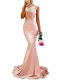 DianShaoA Damen Abendkleider Lang Partykleider Off Shoulder Etuikleid  Maxikleider Elegant Cocktailkleid Hoch Geschlitzt Fishtail Meerjungfrau  Kleid a7ad8e5f96