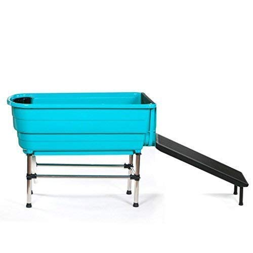 Pedigroom Pet Dog Booster Bath With Ramp Plastic Mobile Portable Cat Grooming Tub