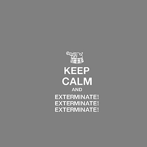 Keep Calm and Exterminate - Herren Langarm T-Shirt Schwarz