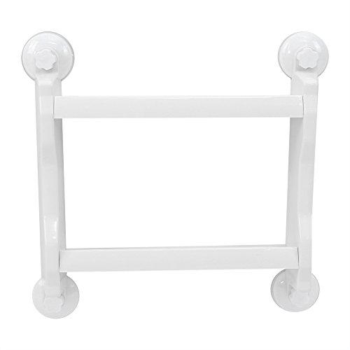 2Stufe Saugnapf Rack Wandhalterung Küche Badezimmer Aufbewahrung Organisieren Regal Kunststoff Bad Rack Dusche Caddy weiß (Kunststoff Weiß Caddy Dusche)
