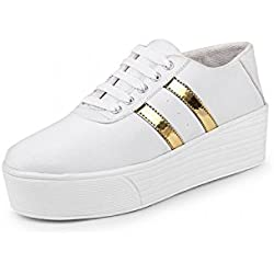 Zapatoz Womens Fabric White Color Casual Shoe