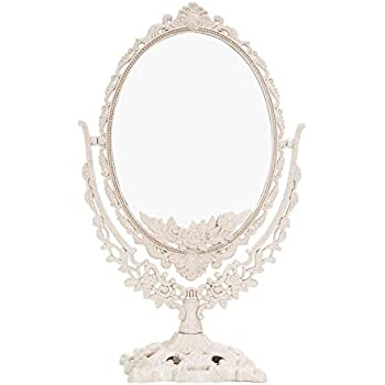 Easychic Double Sided Ornate Freestanding Table Top Mirror