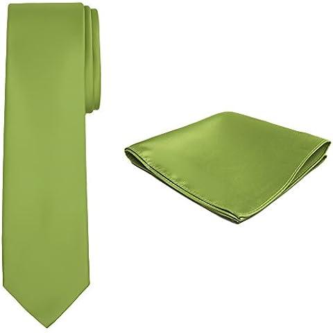 Jacob Alexander Color Sólido corbata y pañuelo para hombre