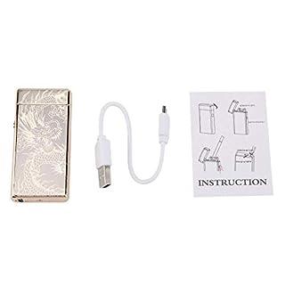 Garosa USB Feuerzeug Wiederaufladbar Winddicht Elektrisch Metall Zigarettenanzünder für Zigarette Kerze Camping(#1)
