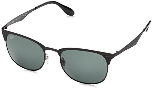 Rayban Unisex Sonnenbrille Model: 3538 Gestell: schwarz, Gläser: dunkelgrau 186/71), Large (Herstellergröße: 53)