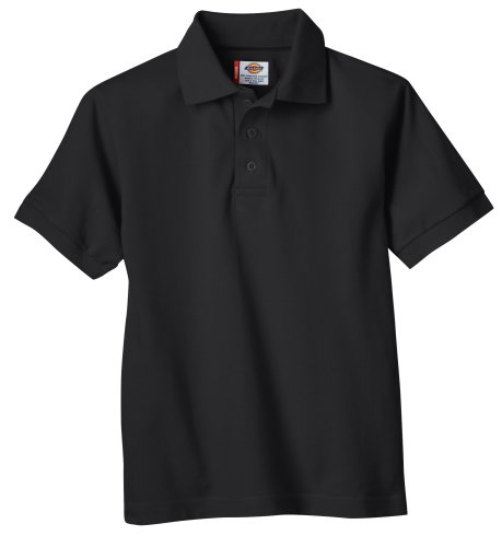 Dickies - - KS4552 Kinder Größe Kurzarm Pique Polo Shirt Black