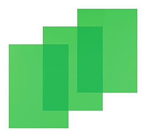 Pavo Paquet de 100 Couvertures en PVC 200 microns A4 Vert
