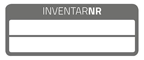 AVERY Zweckform 6918 Inventar-Etiketten (50 Stück, fälschungssicher, 50 x 20 mm) 10 Bogen schwarz