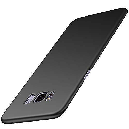 Arkour Galaxy S8 Hülle, Minimalistisch Ultradünne Leichte Slim Fit Handyhülle mit Glattes Matte Oberfläche Hard Case für Samsung Galaxy S8 (Glattes Schwarz) Slim Fit Hard Case