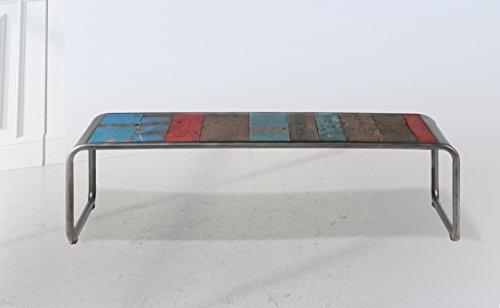 Table Basse 120X70X35 Style Industriel en Bois de Bateau recyclé.