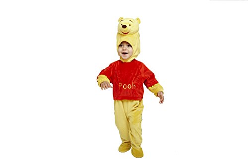 Disney baby dcwin - rpmo - 06 - costume - winnie the pooh - pile body con cappuccio, di colore giallo