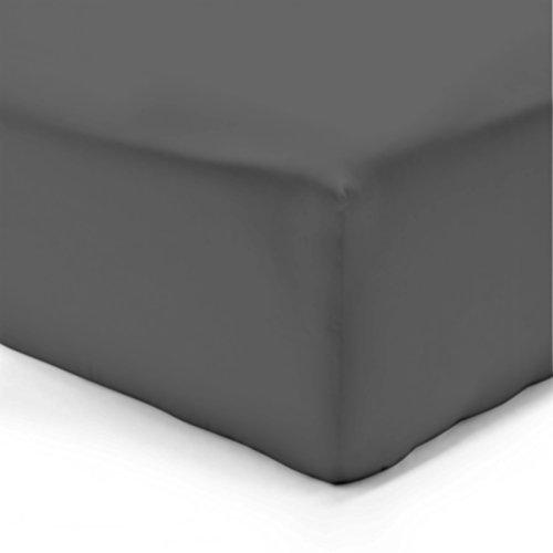 Vision Drap Housse Anthracite 140x190cm - 100% Coton