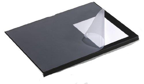 Durable 7293/01 Schreibtischunterlage mit Kantenschutz, Schwarz, 5 Stück