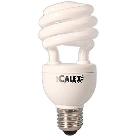 Calex - Bombilla fluorescente compacta en espiral de bajo consumo (diámetro de 40 mm, E27, 15 W, 12 V, 6500 k, P45, eficiencia energética clase B T3, media espiral, intensidad no regulable, 10 unidades)