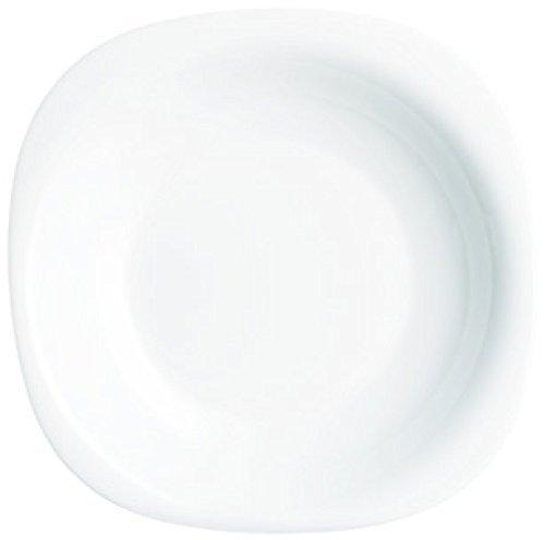Luminarc 22,5 cm en verre Carine Assiette à Soupe, Blanc