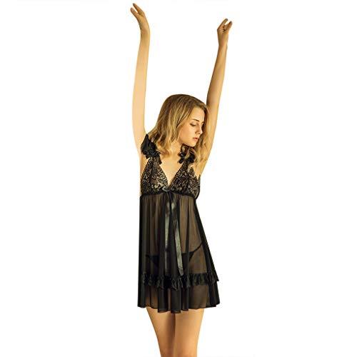 TWBB Dessous Damen,Frauen Mode Dessous Sexy Minikleid Verband Siamesische Unterwäsche Nachtwäsche Sexy Lingerie Negligee Blume Patchwork Reizvoller Pyjama Versuchung Nachthemd Unterwäsche Nightwear -