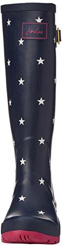Joules Wellyprint, Bottes de Pluie Femme Blue (Exclusive Navy Star)