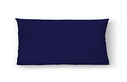 biberna 0065600 Baumwoll-Satin Kissenhüllen, 40 x 80 cm, Kornblau (Baumwoll-satin-decke)