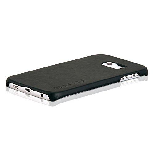 "iPhone 6/6s Plus Lederhülle Leder Case Ledertasche braun - KANVASA ""One"" Luxus Echtleder Backcover für das Apple iPhone 6 / 6s Plus (5,5"") - Rindsleder Hülle ultradünn - idealer Schutz & edles Design Schwarz"