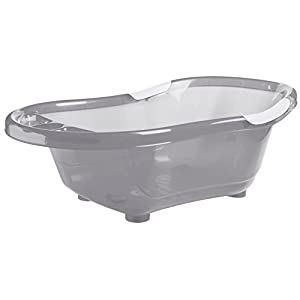 Solid Bathtub with Plug, Translucent Grey