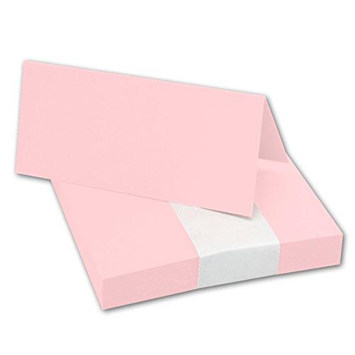 50x Tischkarten in Rosa I Größe: 100 x 90 mm (gefaltet 100 x 45 mm) I 240 g/m² - Sehr schwere und stabile Qualität I Aus der Serie FarbenFroh von NEUSER!