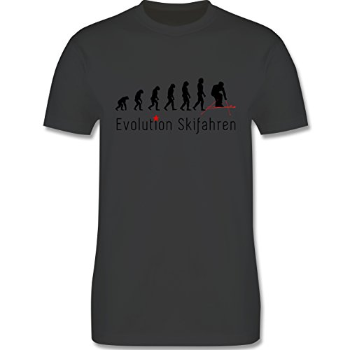 Evolution - Skifahren Evolution - Herren Premium T-Shirt Dunkelgrau