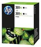 HP Pack 2 cartouches 301XL- Noir