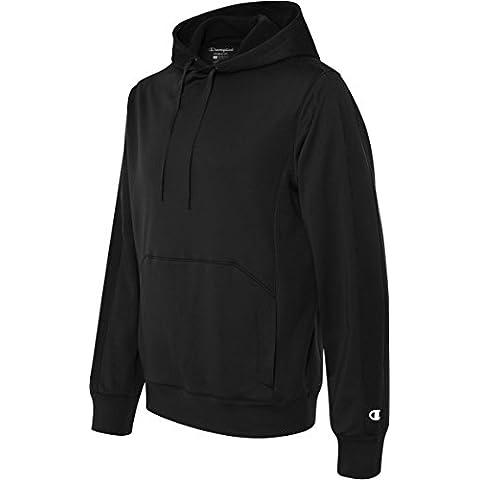 5,4g prestazioni cappuccio pullover, Uomo, S220, nero/nero, L