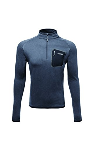 Sherpa Thermal (Sherpa Adventure Gear Herren Tsepun Zip T-Shirt Medium Kharani/Black)