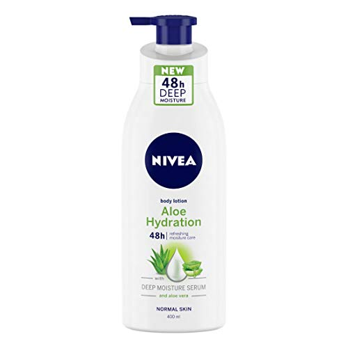 NIVEA Aloe Hydration Body Lotion, 400ml, with deep moisture serum and aloe vera for normal skin