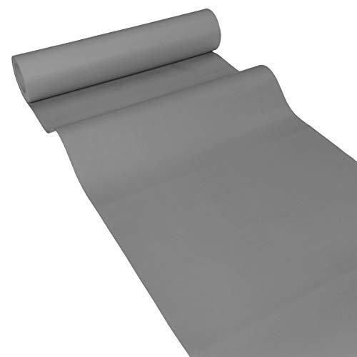 JUNOPAX 62113107 Papiertischläufer 50m x 0,40m Stahl-grau nass- und wischfest
