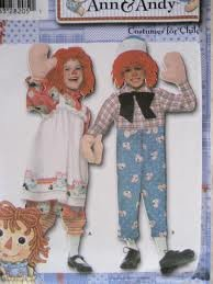 Simplicity 4471Raggedy Ann & Andy Kostüme für Kinder Gr. BB (3, 4, 5, 6, 7, (Ann Kind Raggedy Kostüme)
