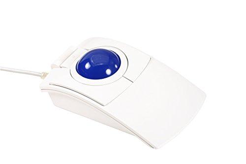 cst2445W (GL) (l-trac Glow Blau) USB Wired beidhändig Tragbar High Performance Laser Ergonomische Trackball mit Hintergrundbeleuchtung (Weiß)-Hergestellt in Den USA -
