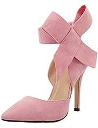 Cm Euq8dg Tacchi 12 Da Con Amazon Scarpe 8 It Donna Fiocco v0nmN8ywO