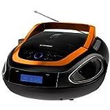 Hyundai Lettore portatile CD Mp3USB Radio-lettore CD/Radio Boombox impianto stereo nero / arancione immagine