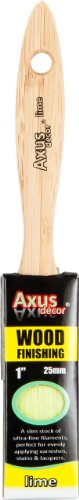 Axus Décor 1-inch Wood Finishing Brush - Lime