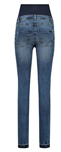 Love2Wait Damen Umstandsjeans Jeans Sophia 32 Blau - Blue (Dark Wash)