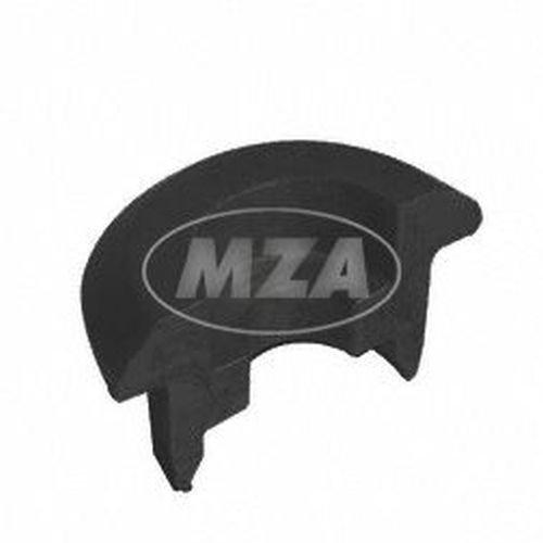 Stützringhälfte klein - schwarzer Kunststoff - Halbschale für Stoßdämpfer - Simson Mokick/Roller