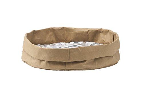 Tommy: Couchage pour Chat/Chien en Fibre de Cellulose Couleur Havane, avec Coussin Amovible en Coton hypoallergénique, fabriqué en Italie par Limac Design®.