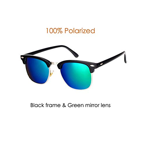 Sportbrillen, Angeln Golfbrille,Classic Brand Polarisiert Sunglasses Men Women Half Metal Mirror Unisex Sun Glasses Gafas De Sol UV400 CC0832 C5