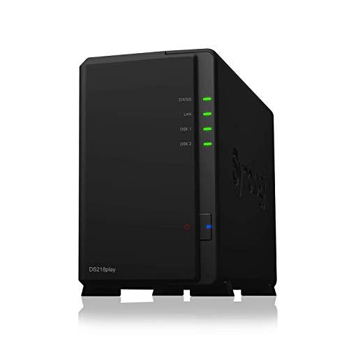 Synology DS218play 8TB DiskStation Server 2-Bay Desktop NAS-Einheit & 2X 4TB HDD
