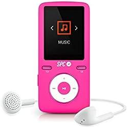 SPC Colour Sound reproductor rosa MP4 extrafino con radio FM y memoria de 8GB
